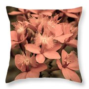 Glowing Candle Throw Pillow