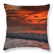 Glowing Cherry Sunset Throw Pillow