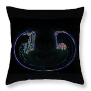Glowing Choo Choo In Lights Abstract  Throw Pillow