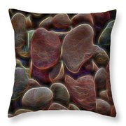 Glowing Colorful Rocks Throw Pillow