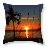Glowing Cross In The Sunset Throw Pillow