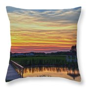 Glowing East Coast Sunset Throw Pillow