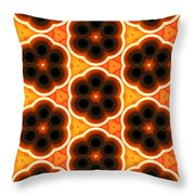 Glowing Floral Pattern Throw Pillow