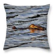 Glowing Gator Throw Pillow