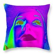 Glowing Gigi Throw Pillow