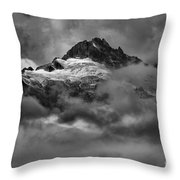Glowing Glaciers In The Tantalus Range Throw Pillow