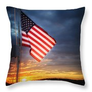 Glowing Glory Throw Pillow