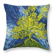 Glowing In The Balance Throw Pillow