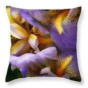 Glowing Iris' Throw Pillow
