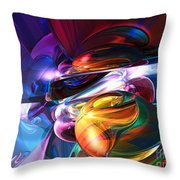 Glowing Life Abstract Throw Pillow