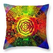 Glowing Mandala Throw Pillow