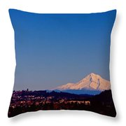 Glowing Mt Hood Throw Pillow