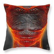 Glowing Muscle Boy Throw Pillow