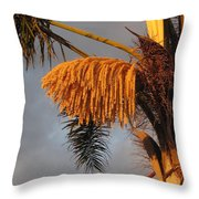 Glowing Palm Blossoms Throw Pillow