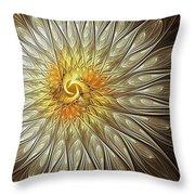 Glowing Petals Throw Pillow