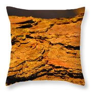 Glowing Pine Bark Throw Pillow