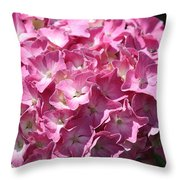 Glowing Pink Hydrangea Throw Pillow