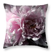 Glowing Pink Peony Throw Pillow