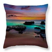 Glowing Sandy Throw Pillow