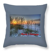 Glowing Sea Oats Sunrise Throw Pillow