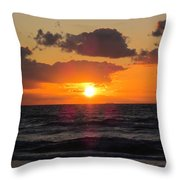Glowing Sunrise Throw Pillow