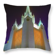 Glowing Temple Throw Pillow