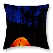 Glowing Tent Throw Pillow by Cale Best