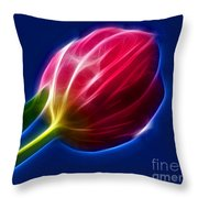 Glowing Tulip Throw Pillow