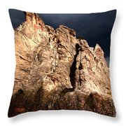 Glowing Under Storm Clouds Throw Pillow