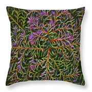 Glowing Vines Throw Pillow