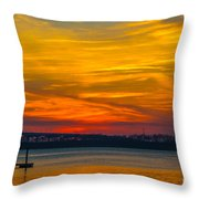 Glowing With Color Throw Pillow