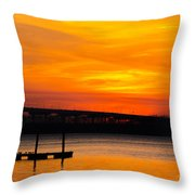 Glowing With Orange Throw Pillow