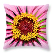 Glowing Zinnia By Kaye Menner Throw Pillow