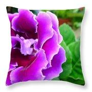 Gloxinia Flower Throw Pillow
