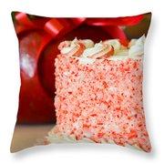 Gluten Free Peppermint Cake Throw Pillow