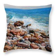 Glyfada Greece Throw Pillow