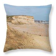 Glyne Gap Cliffs In Sussex Throw Pillow