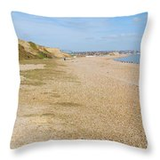 Glyne Gap Coast In England Throw Pillow