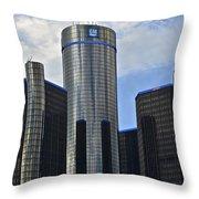 Gm Building Throw Pillow