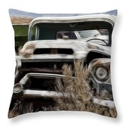 G M Old Pickup Throw Pillow