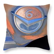 Gmc 4000 V6 Pickup Truck Emblem Throw Pillow