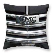 Gmc Truck Emblem Throw Pillow