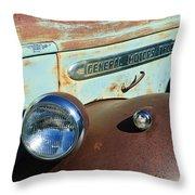 Gmc Truck Side Emblem Throw Pillow