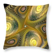 Gnarl Of Gold Throw Pillow