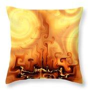 Gnarly Campfire Throw Pillow
