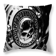 Gnarly Harley Throw Pillow