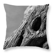 Gnarly Tree II Throw Pillow