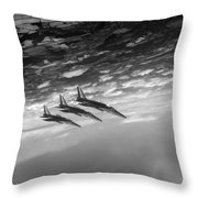 Gnats Inverted Black And White Version Throw Pillow