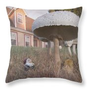 Gnome Home Throw Pillow