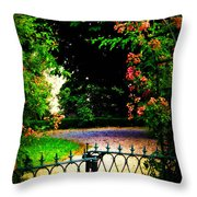 Go And Smell The Roses Throw Pillow